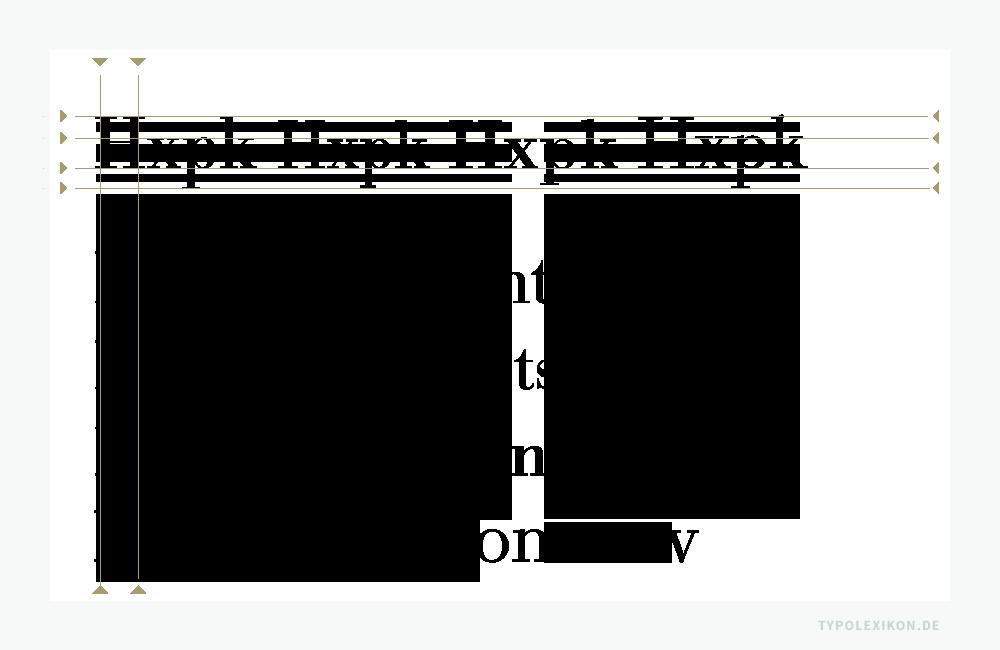 Schrift ist nicht gleich Schrift, auch wenn Schriften auf den ersten Blick ähnlich aussehen oder sogar den gleichen Namen tragen. Hier ein Rohsatzvergleich von vier unterschiedlichen Bodonis im normalen Schriftschnitt. Die Typometrie unterscheidet sich signifikant voneinander. Um ein vergleichbar großes Schriftbild zu erzeugen, benötigen unterschiedliche Bodonis folglich auch unterschiedliche Schriftgrade.