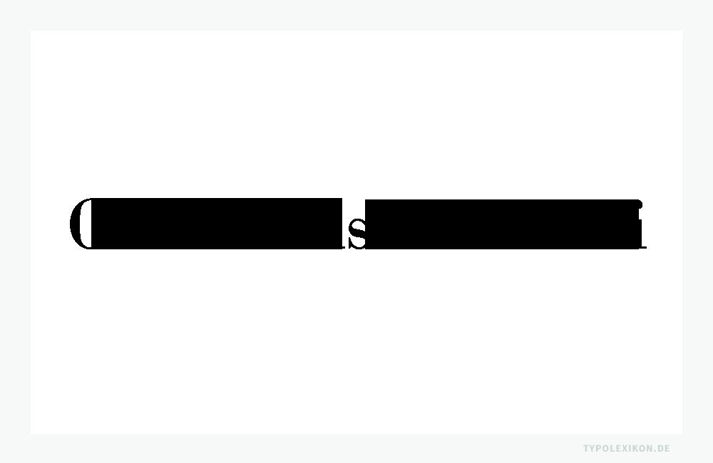 Schriftprobe eines digitalen Remakes der Bodoni (Giambattista Bodoni, 1740–1813). In der Schriftklassifikation zählen Bodonis zu den Klassizistischen Antiquas. Infografik: www.typolexikon.de