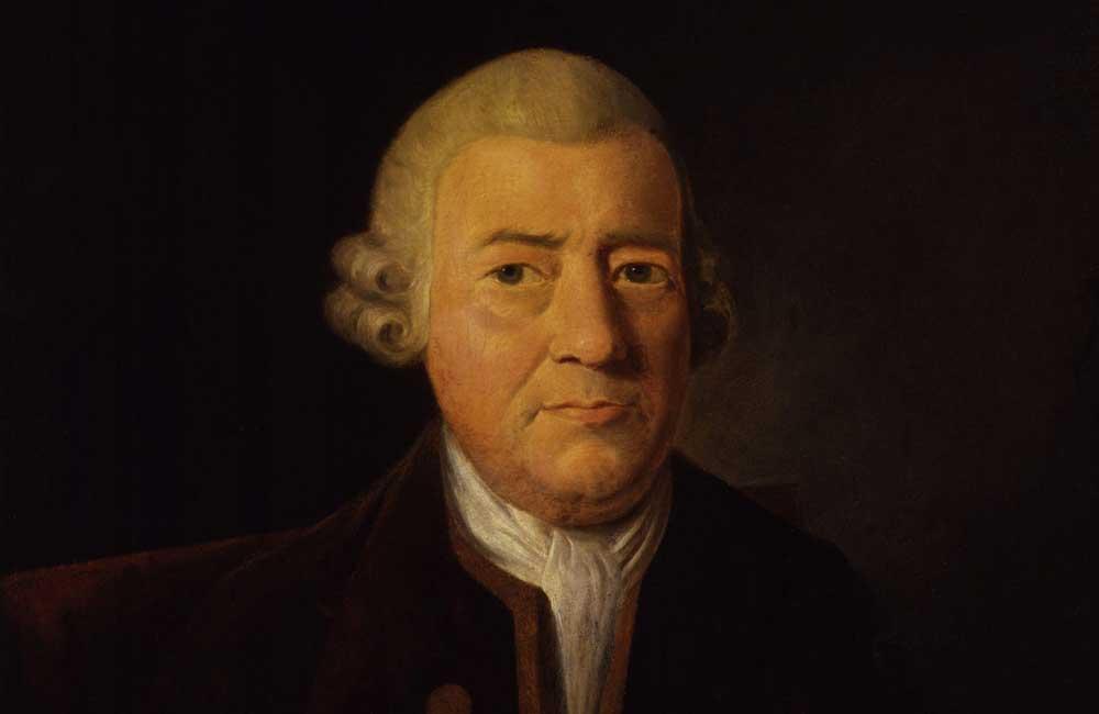 Porträt des englischen Typografen John Baskerville (1706–1775). Portraitmaler: James Millar (1735–1805). Galerie: National Portrait Gallery, London.