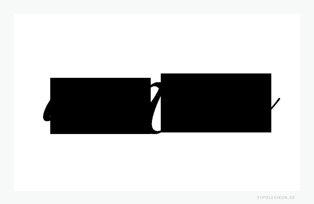 Glyphenvarianten der Minuskel a. Beispiel gesetzt in der Zapfino One, Two und Three, einer digitalisierten Schreibschrift (Zierschrift) von Hermann Zapf (1918—2015) aus der Linotype Schriftbibliothek. Infografik: www.typolexikon.de