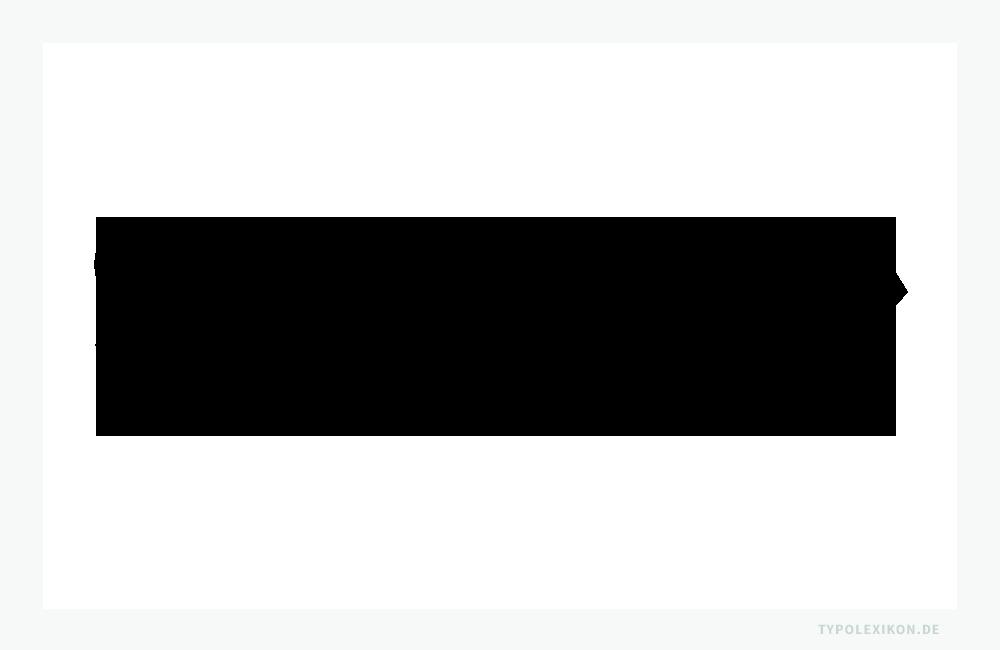 »Fette Fraktur«, entstanden um 1830–1840 als deutsche »Reklameschrift«. Beispiel gesetzt in »Fette Fraktur LT Std Regular« von Adobe ®, einem Remake nach einem Schriftschnitt aus den Jahren 1867–1875 der AG Schriftgießerei, Offenbach am Main. Schriftgestalter unbekannt. Quelle: www.typolexikon.de