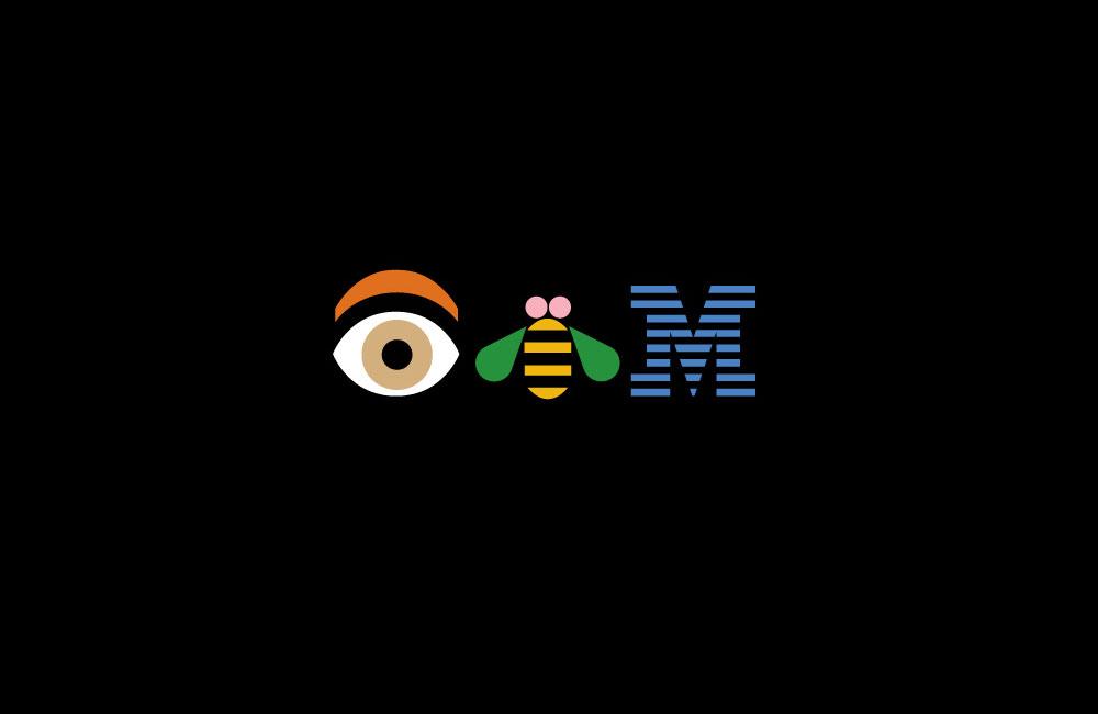 Zu den ersten global operierenden Unternehmen, die das »Graphic Design« im Sinne der »New York School« konsequent umsetzten, gehört ab den 1950 Jahren die IBM International Business Machines Corporation (Good Design is Good Business). Bildzitat: »Eye-Bee-M« Poster des US-amerikanischen Grafikdesigners Paul Rand (1914–1996). Quelle und weitere Informationen zur Designhistorie der IBM unter www-03.ibm.com/ibm/history/ibm100/us/en/icons/gooddesign/.