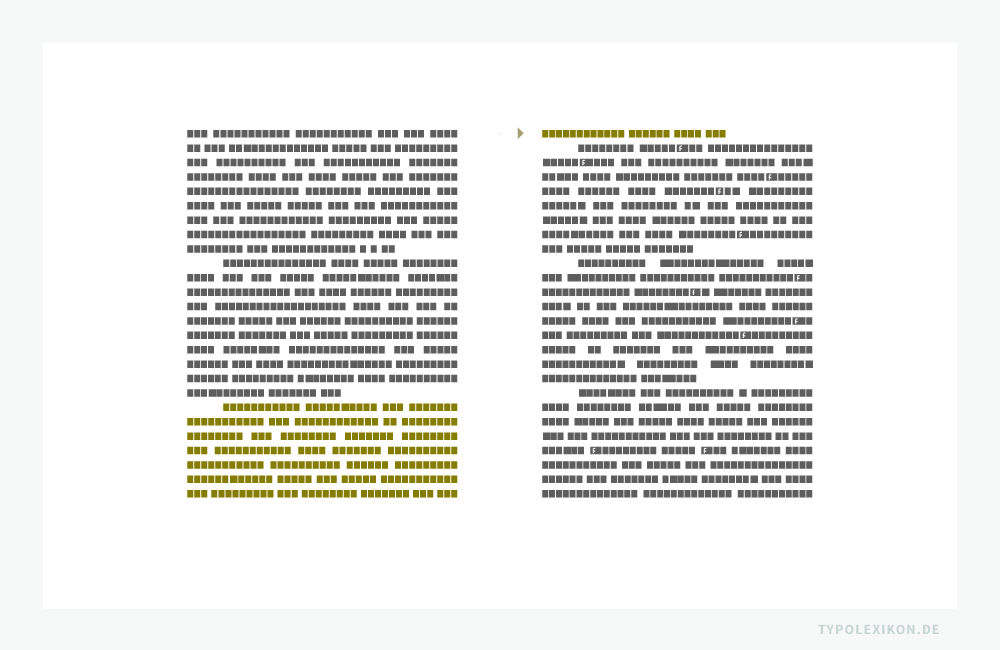 Die »Witwe« – auch als »Hurenkind« bezeichnet – zählt zu den bekanntesten Umbruchfehlern. Man versteht darunter die letzte Zeile eines Absatzes, die fehlerhaft alleine am Anfang einer neuen Kolumne, also am Anfang einer neuen Seite steht.
