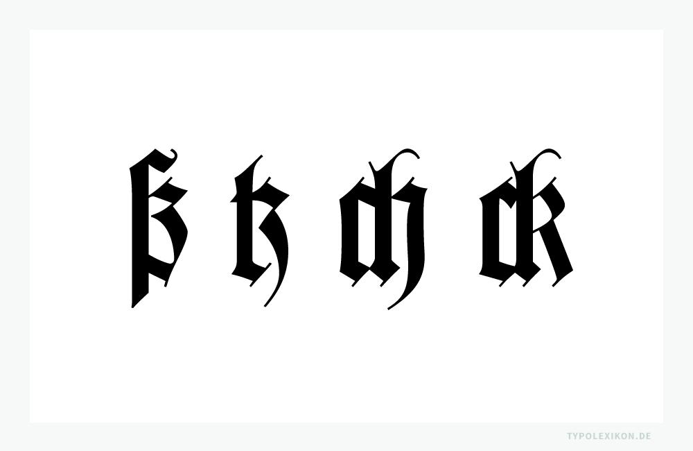 Für den korrekten Ligaturensatz in der »Deutschen Schrift« gibt es noch mehrRegeln. Beispielsweise, dass im Sperrsatz einer Fraktur die Ligaturen aufgelöst werden müssen, jedoch nicht ß, tz, ch und ck. Schriftprobe gesetzt aus der »Wilhelm Klingspor Gotisch« von Linotype®.