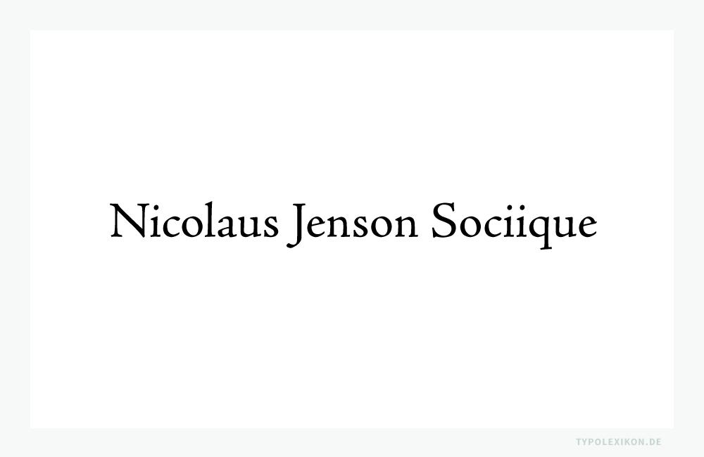 Die Venezianische Renaissance-Antiqua »Jenson Pro« in normalen Schriftschnitt (Regular) von Adobe®.