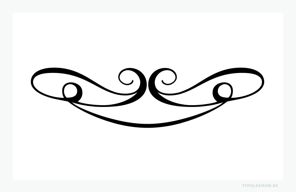 In der Typografie ist eine Vignette ein einzelnes Schmuckzeichen, dessen kalligrafische Formgebung ursprünglich an eine »Weinrebe« erinnerte. Vignetten, im deutschsprachigen Raum auch als »Rebranken« bezeichnet, werden in der Buchtypografie und im Grafikdesign zur Text- oder Raumgliederung – meist als Schlußstück – verwendet. Beispiel gesetzt aus der Linotype Decoration P1 von Linotype. Infografik: www.typolexikon.de