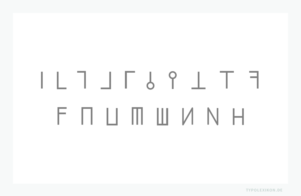 Grundformen von typografischen Korrekturzeichen, wie sie seit der Prototypografie üblich sind.