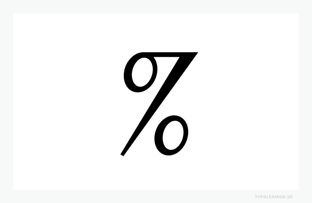 Im Sinne der Typografie ist das Prozentzeichen (%) eine kaufmännische Ligatur für »per cento«, »pro centum« oder »pro Hundert«. Sie wird nur in Verbindung mit Arabischen Ziffern verwendet.